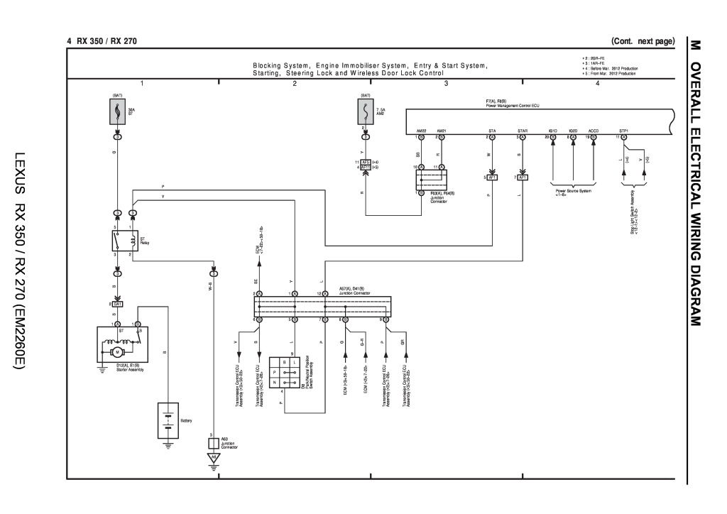 [SCHEMATICS_4ER]  lexus rx 350 rx 270 wiring diagrams.pdf (65.5 KB) - Repair manuals -  English (EN) | Lexus Es 350 Wiring Diagram |  | Lexus club